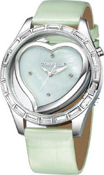 Cosmopolitan Crystal Light Green Leather Strap - CM18006