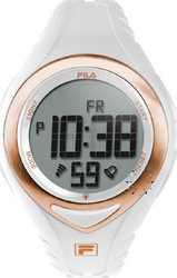 Fila Digital Chronograph White Rubber Strap - 38-024-003