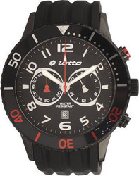 Lotto Chronograph All Black Rubber Strap - LM0048-03