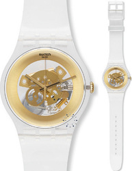 Swatch Gilt Ghost White Rubber Strap