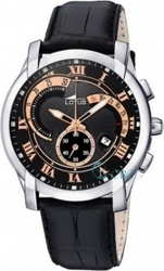 Lotus Black Leather Strap Chronograph L9998-3