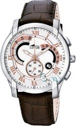 Lotus Brown Leather Strap Chronograph L9998-1