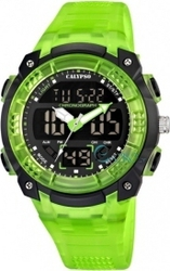 Calypso Digital Green Plastic Strap 5601-3