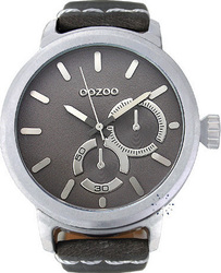 Oozoo Timepieces Grey Leather Strap C5593