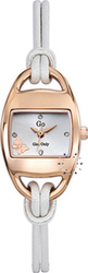 Go Rose Gold Ladies White Leather Strap 697723