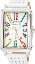 Stuhrling Leisure Uptown Ozzie XL White Leather Strap 1102L.3315P2