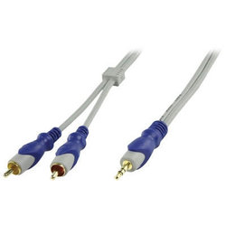 HQ Stereo Audio Cable 3.5mm male - 2x RCA male 1.5m (HQSA-040/1.5)