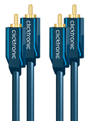 Clicktronic Stereo Audio Cable 2x RCA male - 2x RCA male 1m (70377)
