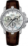 Venus Genesis Full Diamonds Brown Leather Strap VE-1315B1-54-L4