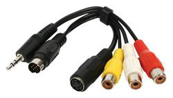 Valueline mini DIN/3.5mm male - S-Video/3x RCA female (CABLE-1104)