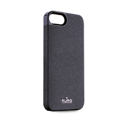Puro Eco-leather Cover Black (iPhone 5/5s/SE)