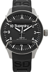 Superdry Men's Scuba Black Rubber Strap SYG109B