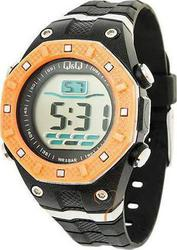 Q&Q Unisex Digital Black Rubber Strap QQ2207.8BK
