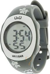 Q&Q Unisex Digital Grey Rubber Strap QQ2228.2GY