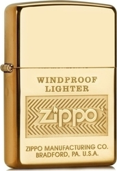 Zippo 28145 High Polish Brass Windproof