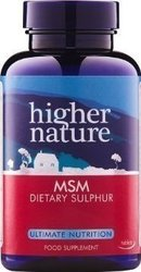 Higher Nature Msm Sulphur 1000 Mg 180 ταμπλέτες