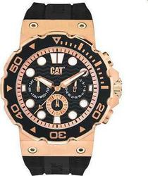 Caterpillar Reef Chrono Rose Gold Bezel Black Dial &Amp;rubber Strap D519321129