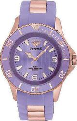 Ferendi Rosegold Case Purple Dial And Rubber Strap F1325-R12