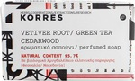 Korres Σαπούνι Αρωματικό Vetiver Root, Green Tea & Cedarwood 125gr