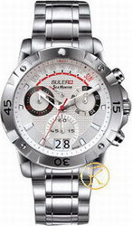 Buler Sea Hunter Chrono Ipb Case Silvery White Dial Bracelet 048121
