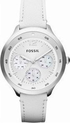 Fossil The Editor Gmt White Dial Stainless Steel Ladies Watch ES3249