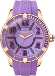 Breeze Rose Gold Purple Rubber Strap 110141.7