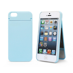 1010plus Mirror Card Cover Blue (iPhone 5/5s/SE)
