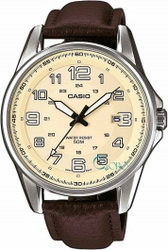 Casio Collection Brown Leather Strap MTP-1372L-9BV