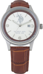 U.S. Polo Assn. U.s. Brown Leather Strap USP4169BR