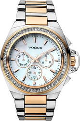 Vogue Etoile Crystal Two Tone Stainless Steel Bracelet 77003.1