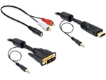 DeLock DVI-D male HDMI male - 2x 3.5mm male - 2x RCA male - 3.5mm female 2m (84455)