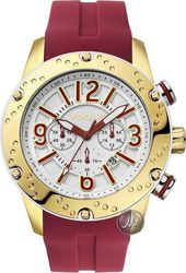 Vogue Spirit Chronograph White Dial Red Watch 17101.8