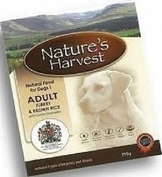 NATURE'S HARVEST ADULT TURKEY AND RICE 10X395GR