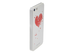 Star Case Bling Heart White (iPhone 5/5s/SE)
