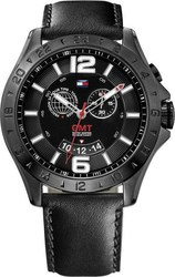 Tommy Hilfiger Chronograph Black Leather Strap 1790972