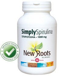 New Roots Simply Spirulina 1000mg 90 ταμπλέτες