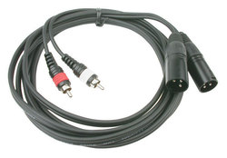 Audiophony Audio Cable 2x XLR male - 2x RCA male 3m (CL-26/3)