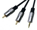 D&S Audio Cable 3.5mm male - 2x RCA male 3m (APA2009)