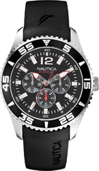 Nautica Multifunction Black Rubber Strap A12022G
