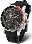 Vostok Europe Anchar Chrono Black Rubber Strap 6S30-5105201