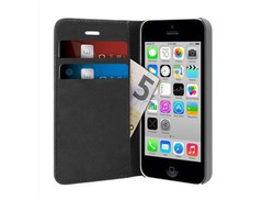 Puro Wallet Case Black (iPhone 5/5s/SE)