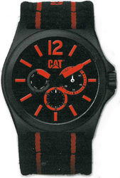 Caterpillar DP XL Multi Black and Red Fabric Strap PK.169.68.138