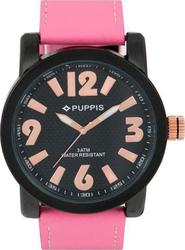 Puppis Black Dial Pink Leather Strap PUM4104