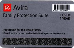 Avira Family Protection Suite Scratch Card (1 Licences , 1 Years)