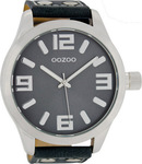 Oozoo 51mm Unisex Darkblue Leather Strap C1012