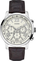 Guess Brown Leather Chronograph W0380G2