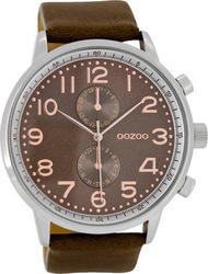 Oozoo Unisex Brown Leather Strap C6452