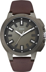 Guess Brown Leather Strap W0382G2