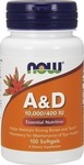 Now Foods Vitamin A & D 10.000 IU A / 400 IU D-3 100 μαλακές κάψουλες