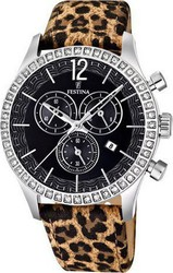 Festina Ladies Chronograph Animal Print Leather Strap 16590/6